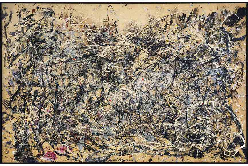 Jackson Pollock - Number 1, 1948- Oil and enamel paint on canvas-172-7 x 264-2 cm